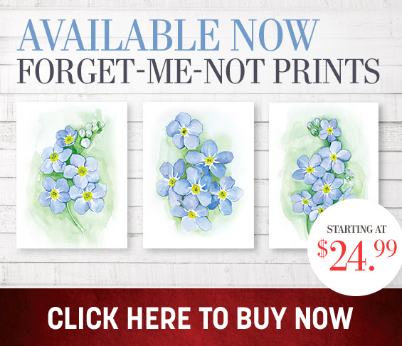 Forget-me-not prints