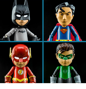 DC Comics Hybrid Metal Figuration Justice League Series 0.5 Box of 4 Mini Figures