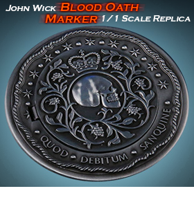 JOHN WICK BLOOD OATH MARKER 1/1 SCALE REPLICA