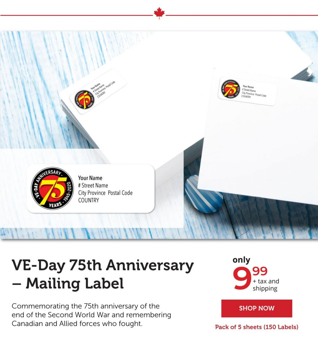 VE-Day Mailing Labels