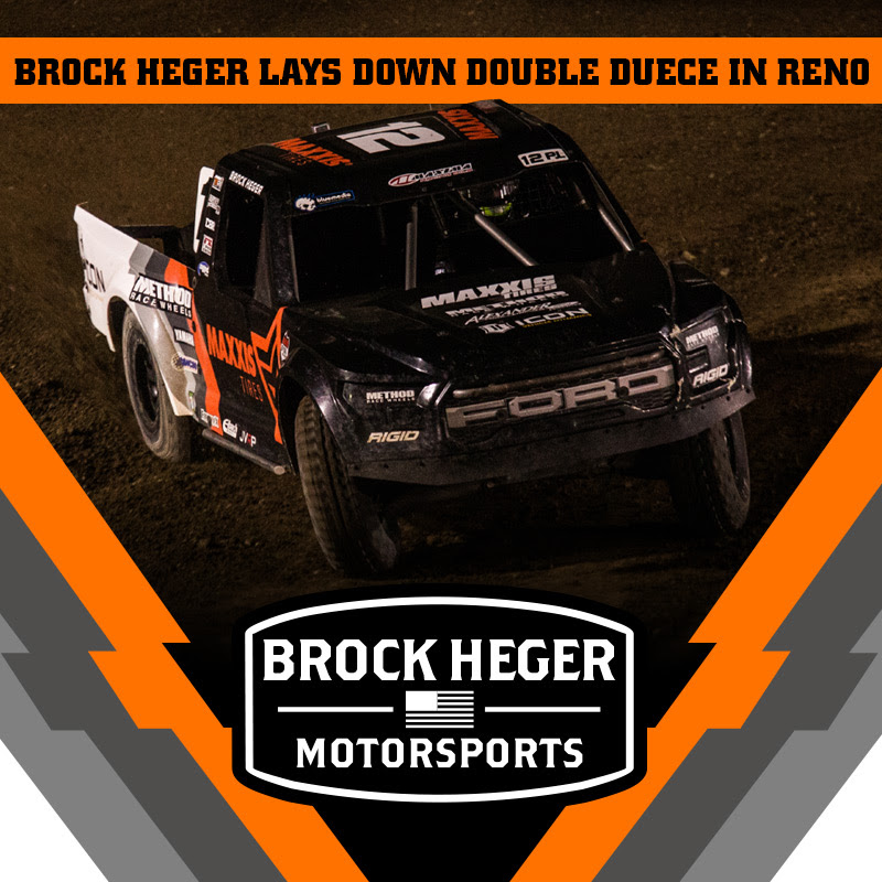 Brock Heger Lays Down the Double Deuce Podium Finish in Reno