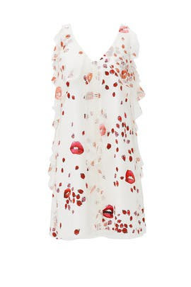 Lips and Lady Bug Shift Dress