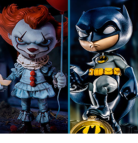 IRON STUDIOS DELUXE MINI CO. HEROES FIGURES