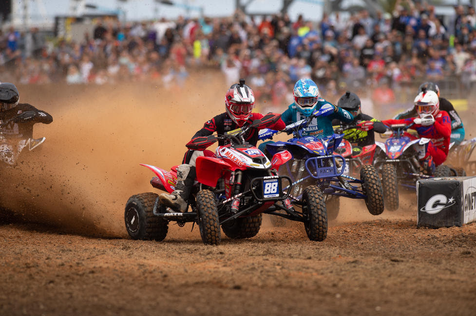 Joel Hetrick grabbed the holeshot, and took home the Daytona ATV Supercross win.