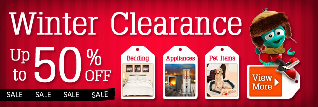 Winter clearance up to 50% off on seleted bedding, appliances, pet items & more at Crazysales.com.au