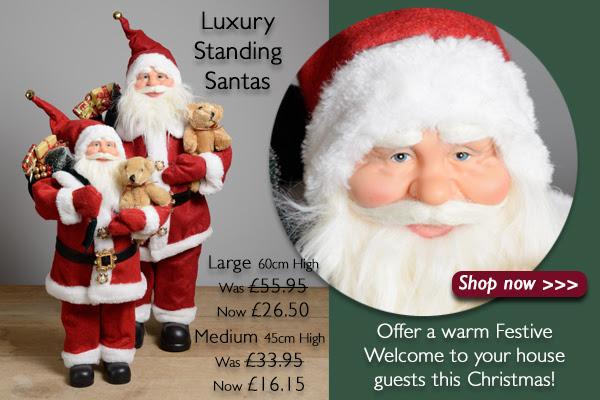 Luxury Standing Santas