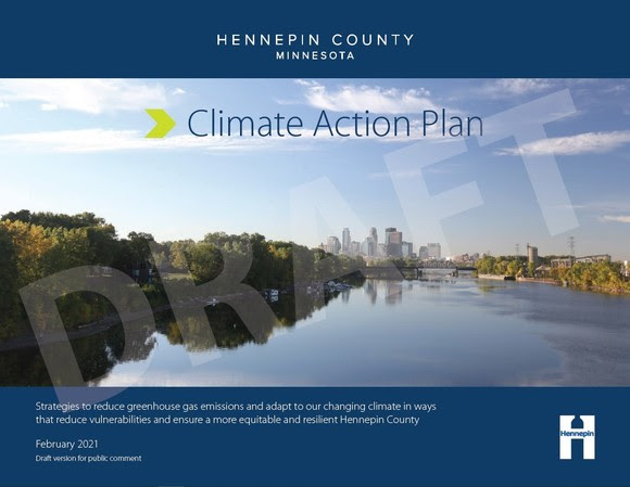 Cover of the draft Climate Action Plan