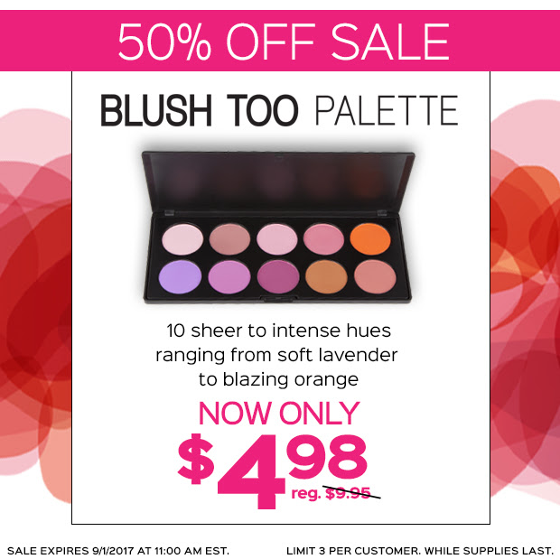 Blush Too Palette 50% Off SALE...