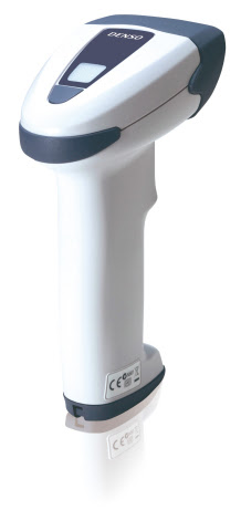 The new DENSO AT27Q-SB handheld 2-D barcode scanner features Bluetooth 2.1 wireless communication. ( ...