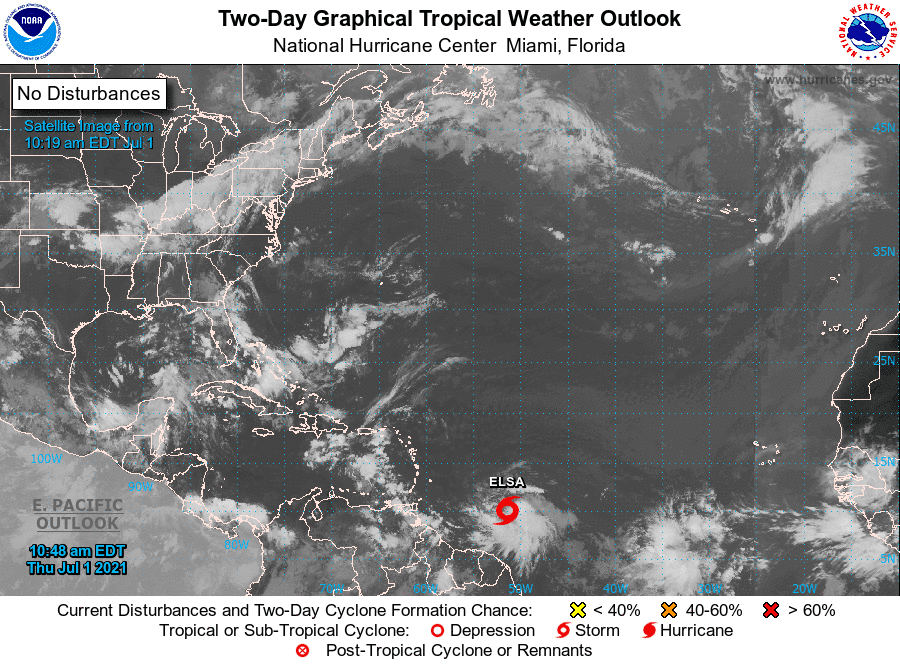 NHC Two-Day Tropical Weather Outlook