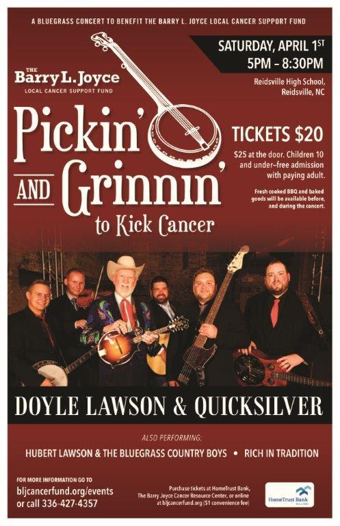 Pickin' and Grinnin' to Kick Cancer @ Reidsville High School | Reidsville | North Carolina | United States