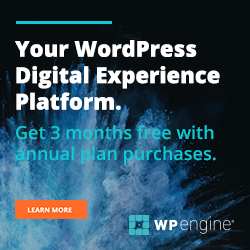 3 mois offerts Wp Engine