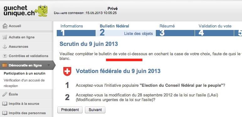 faille vote électronique suisse 9 juin 2013