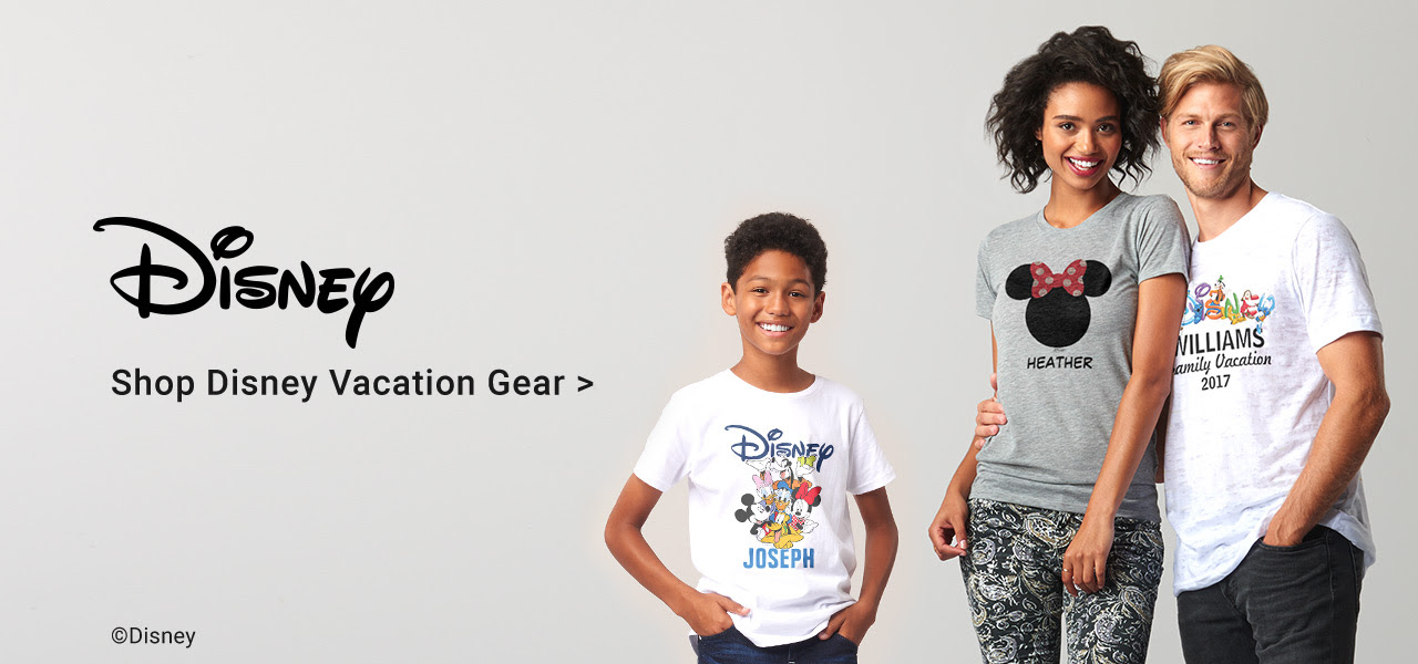 Going On A Disney Vacation? Customize Disney Shirts, Hats & More For The Whole Family!