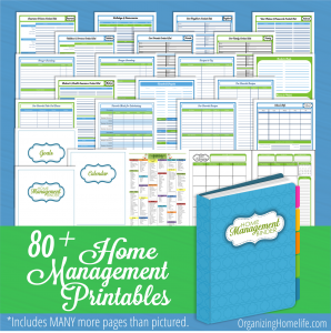 Organizing Homelife Home Management Binder Printables