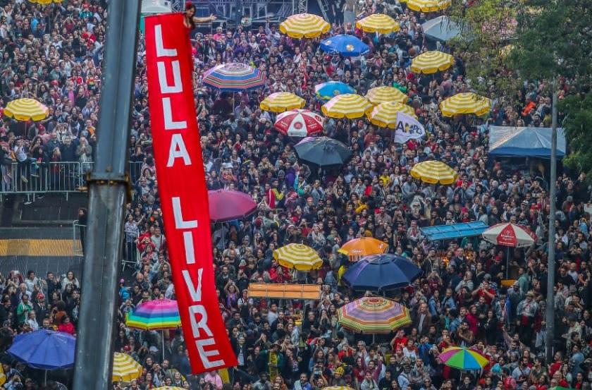 Miles de personas participaron en la tercera edición del Festival Lula Libre, en defensa de la libertad del ex mandatario brasileño - Créditos: Ricardo Stuckert