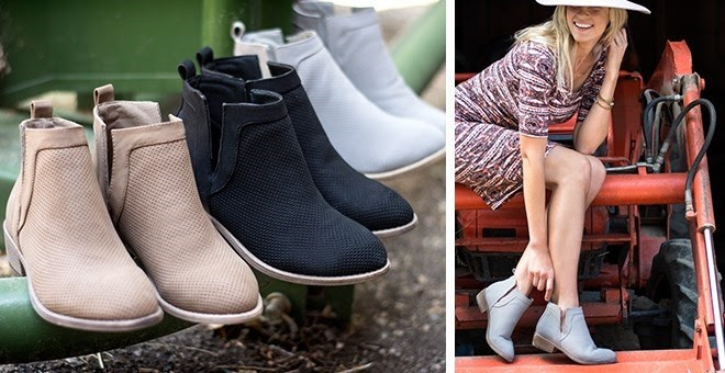 HOT!! Pinhole Detail Booties +...