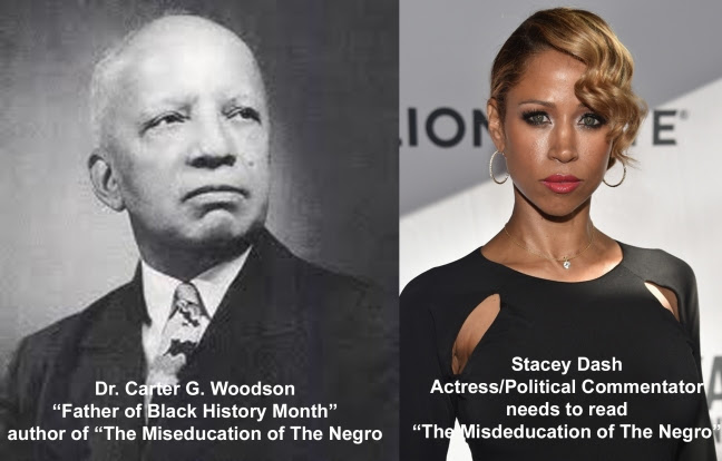 Dr. Carter G. Woodson and Stacey Dash