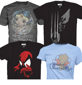 NEW PX PREVIEWS AND FUNKO T-SHIRTS