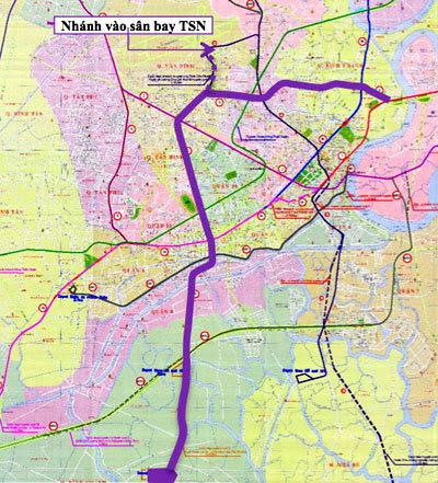 TPHCM xây tuyến metro vào sân bay Tân Sơn Nhất