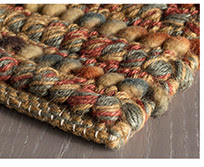 Jasper Woven Jute Wool Rug