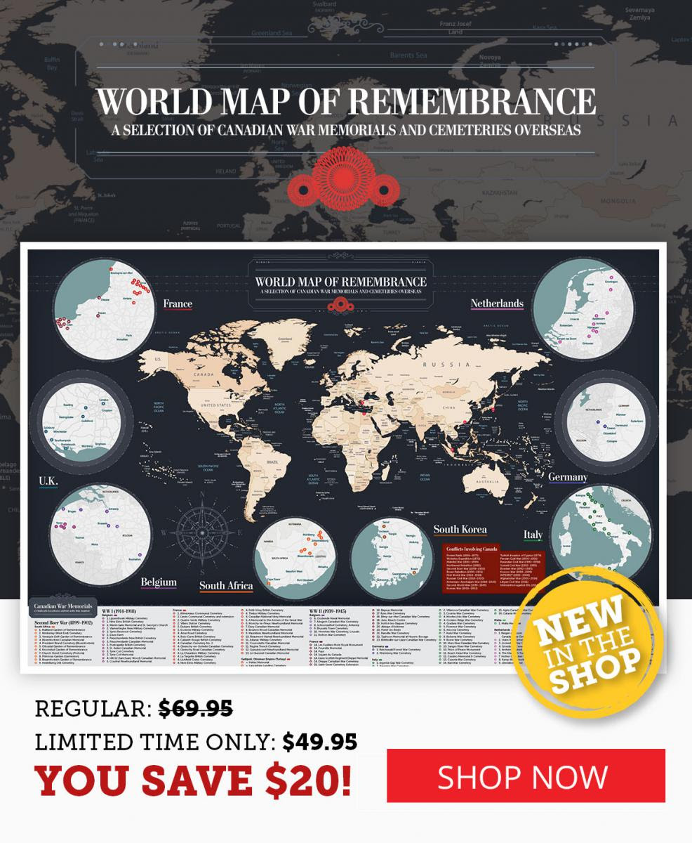World Map of Remembrance is now $20 off!