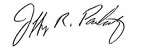 Jeff Pankratz signature