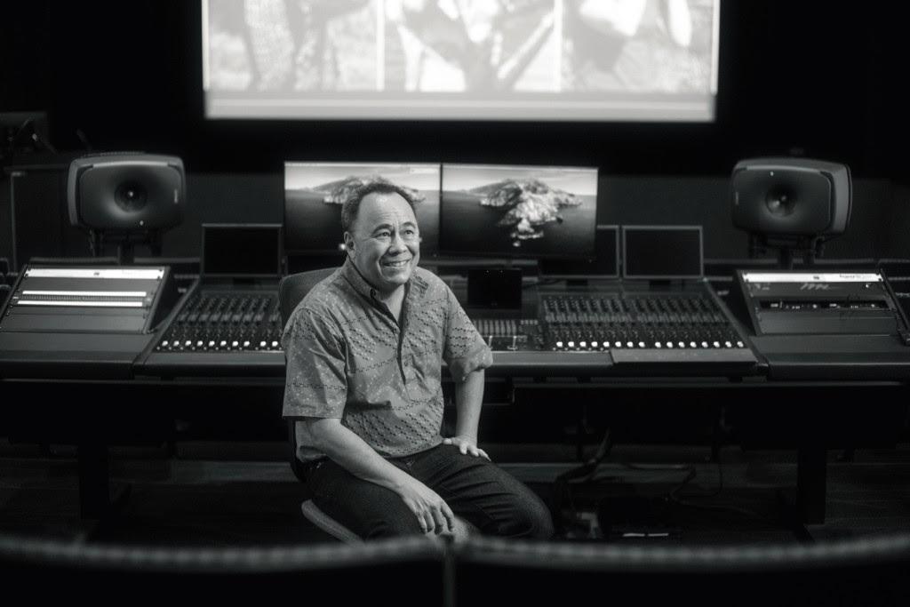 Chris Lee at UH West O'ahu's Academy for Creative Media Theater. Photo: Aaron Yoshino
