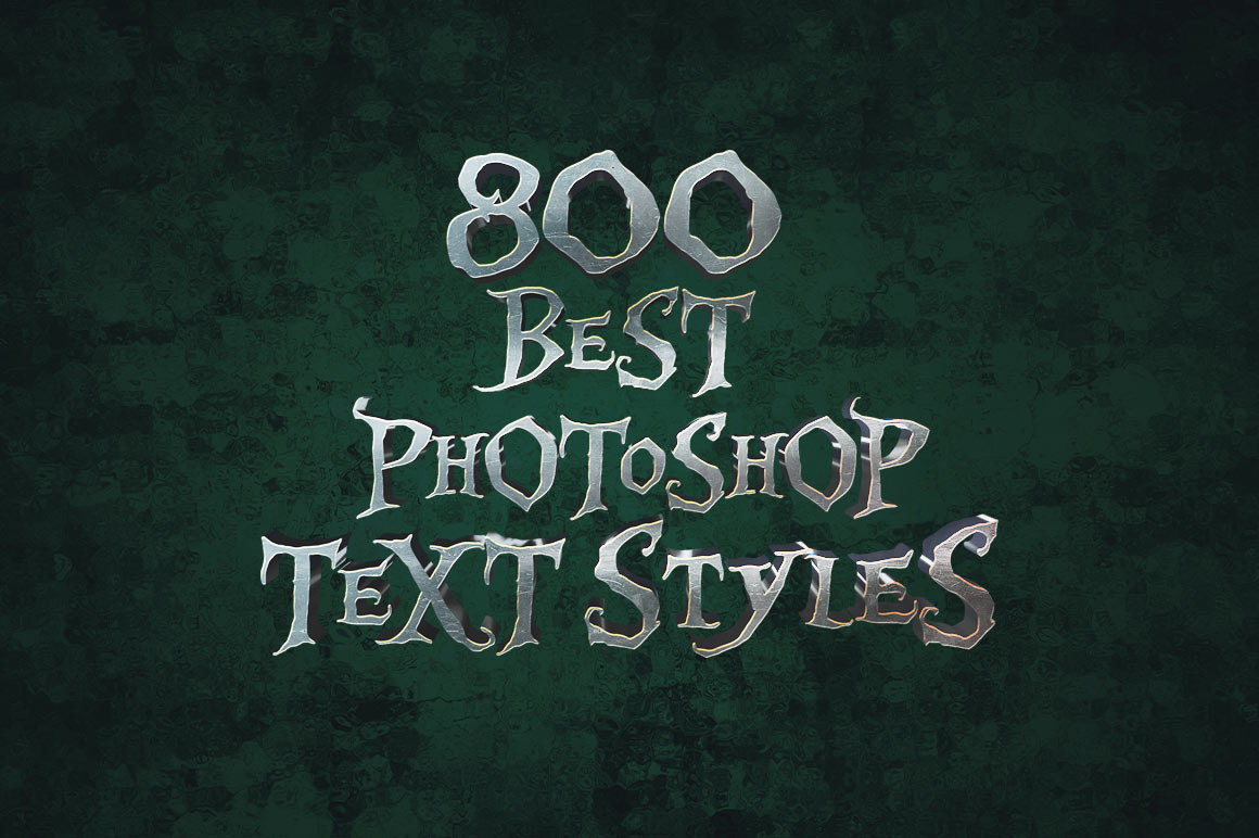 98% Off + 10% Off Coupon on 800 Best Photoshop Text Styles Bundle by Pixelo