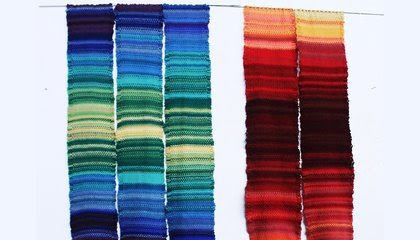 How Knitting Enthusiasts Are Using Their Craft to Visualize Climate Change  image