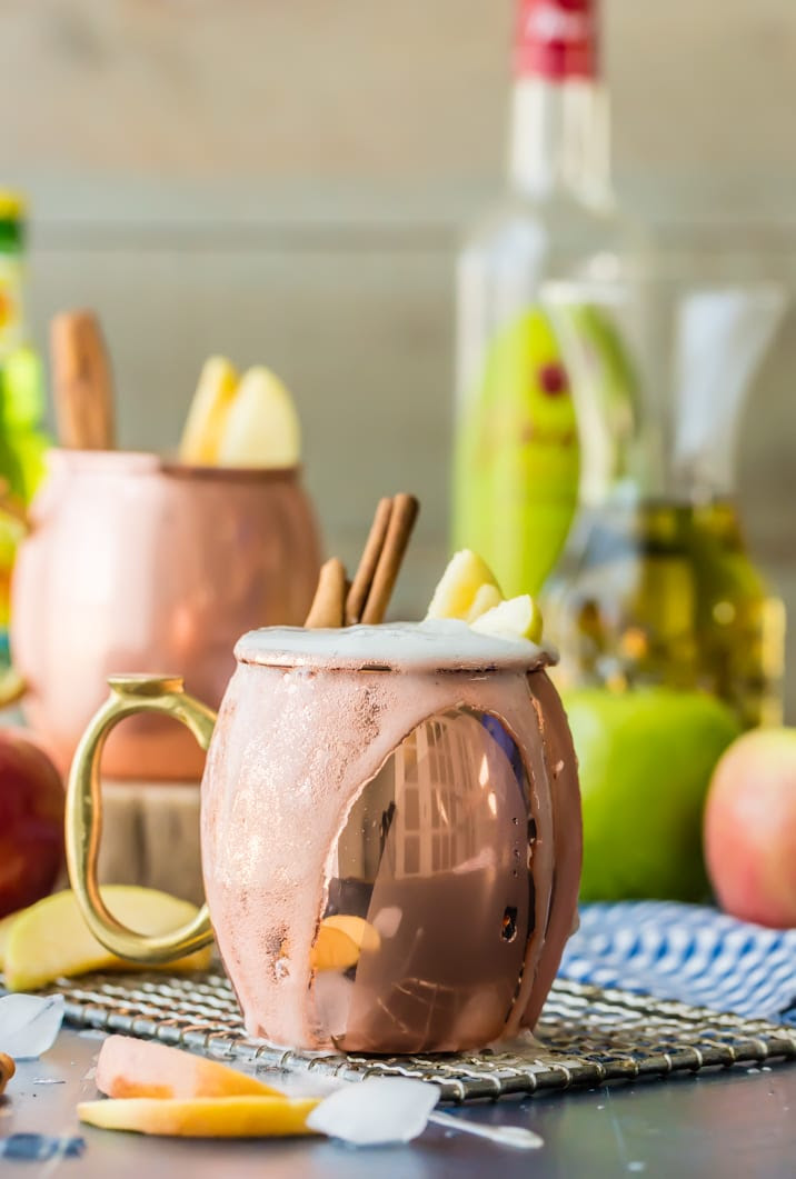 Apple Pie Moscow Mule on a table
