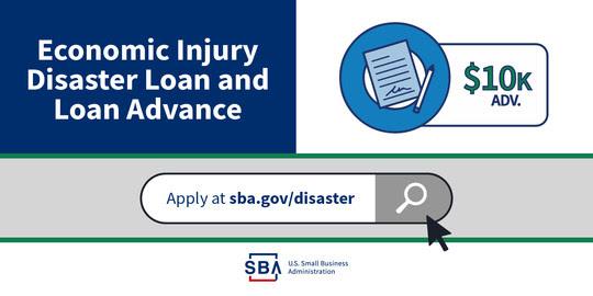 Economic Injury Disaster Loan and Economic Injury Disaster Loan advance EIDL Coronavirus