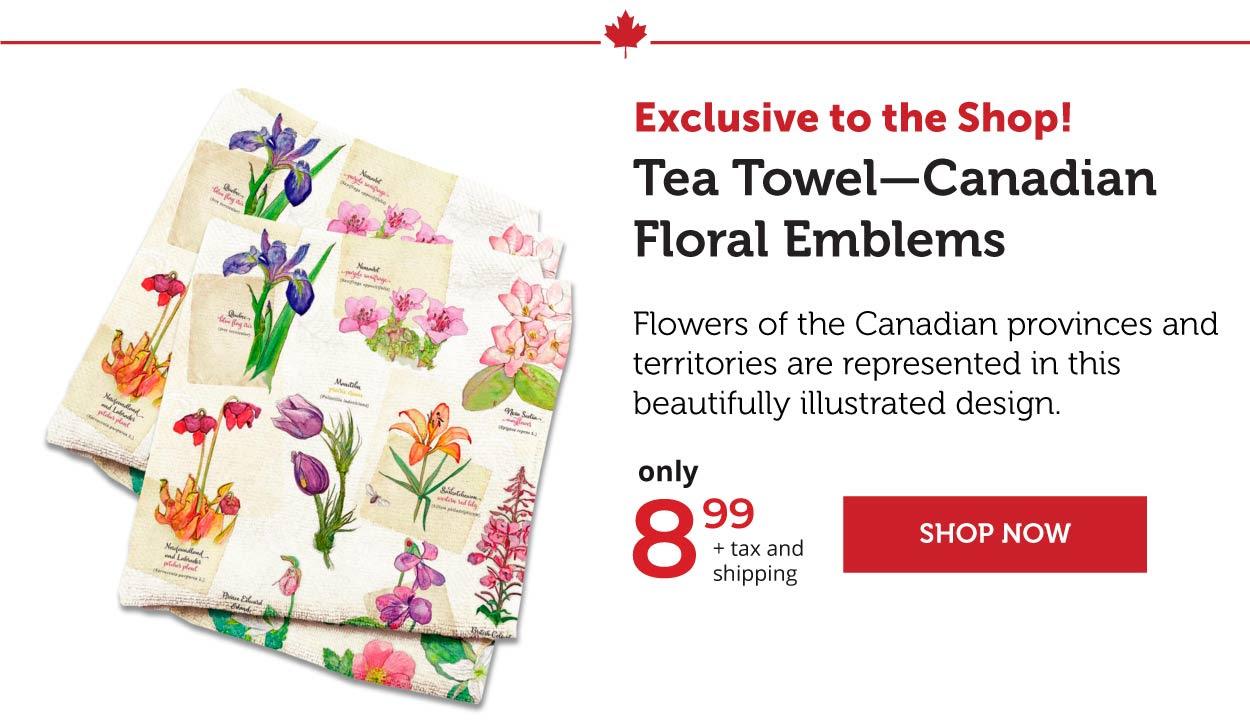 Tea Towel- Canadian Floral Emblems