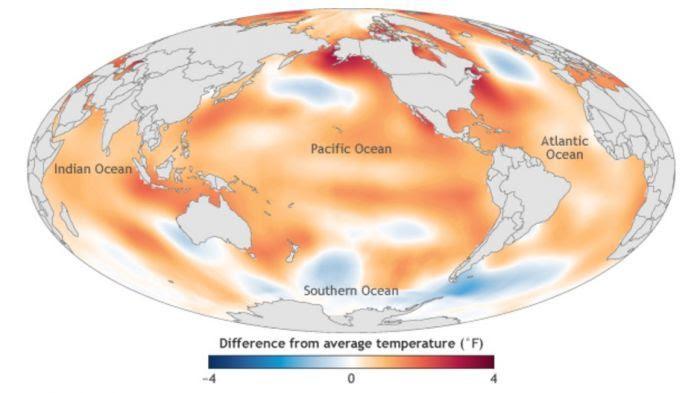 Température des océans