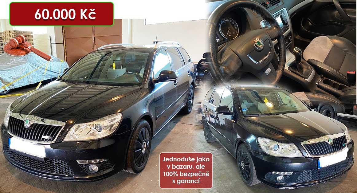 1.9.2020 Dražba automobilu Škoda Octavia Combi RS, 125kW. Vyvolávací cena 60.000 Kč, ➡️ ID732508