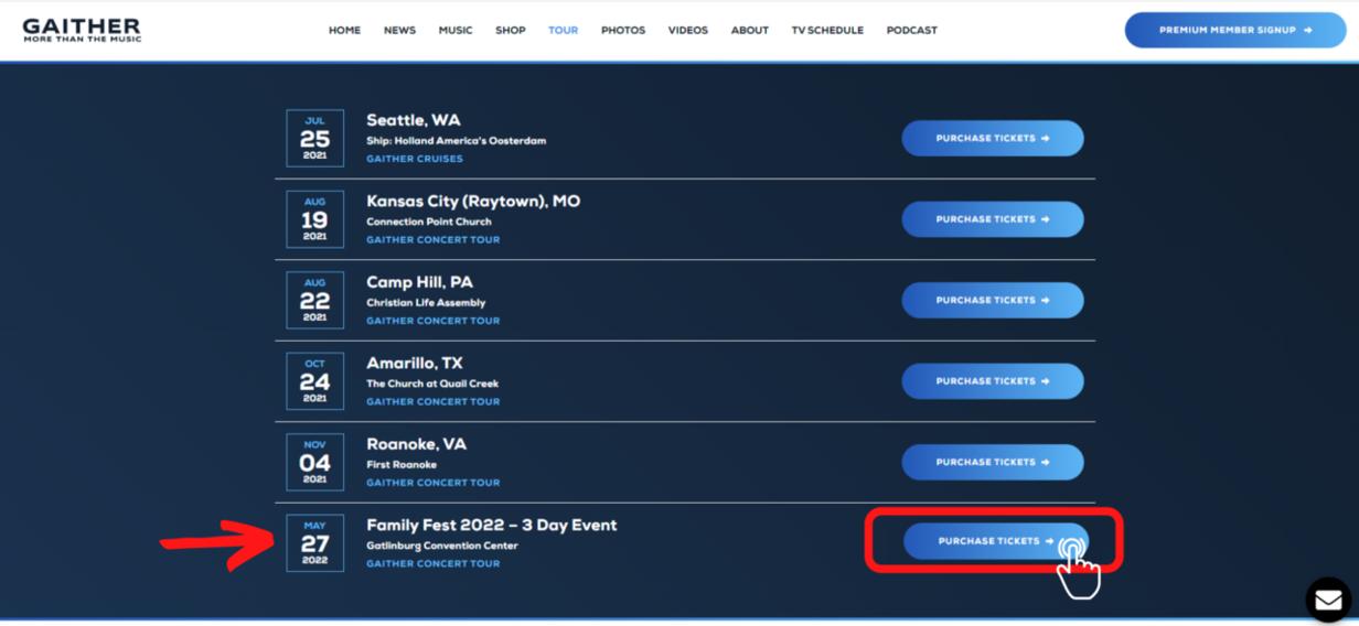 Tour Page
