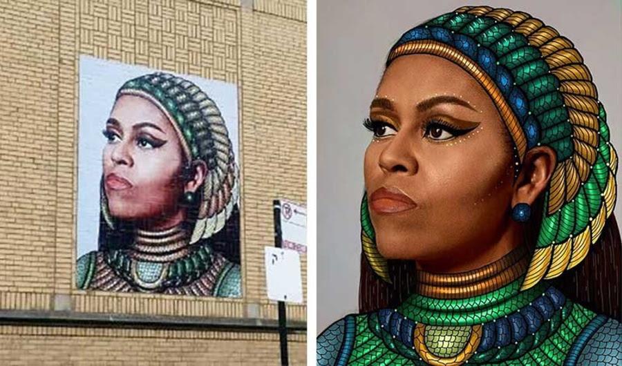 Michelle Obama Mural inflama Plágio Controvérsia