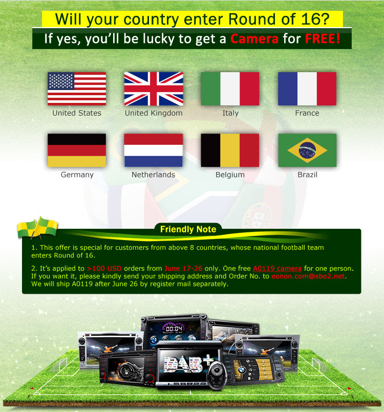 Follow up World Cup & Eonon, Get a CAMERA for FREE