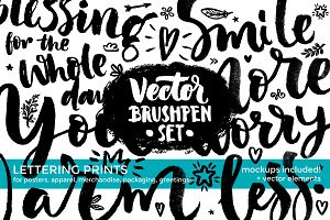 Vector Brushpen Set