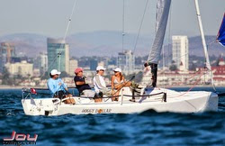 J/70 sailing off San Diego