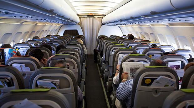 Rear Seat in a plane