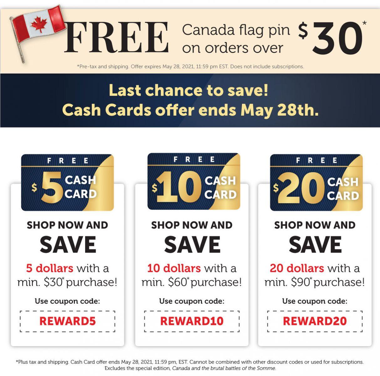 Cash card offer