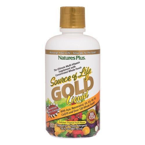 Natures Plus Source of Life Gold Multi Vitamin Liquid - 887 ml (30 Servings)