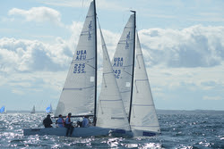 J/70s sailing off Marblehead