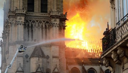 Fire Ravages Historic Notre-Dame Cathedral image