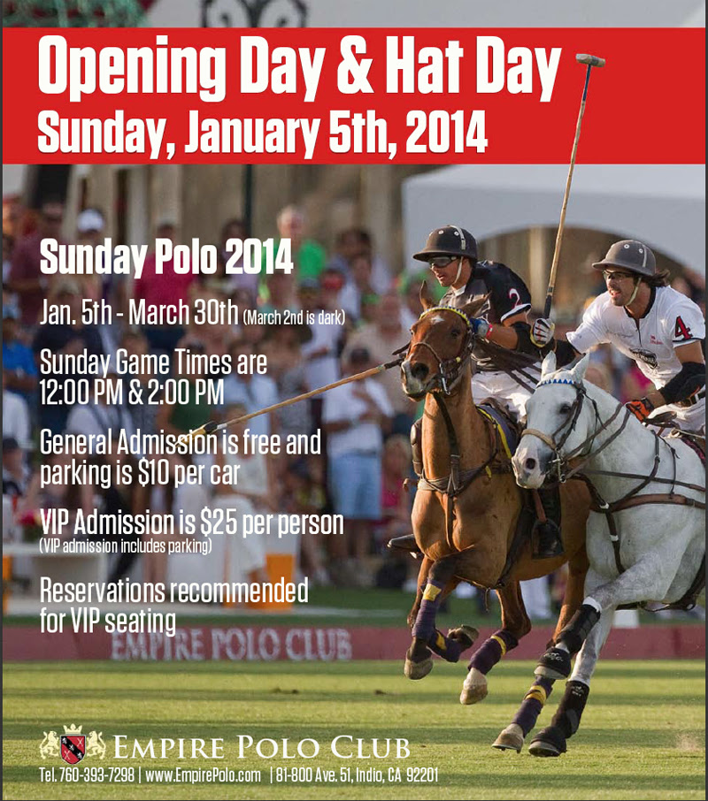 Polo Starts 2014 Empire Polo Club