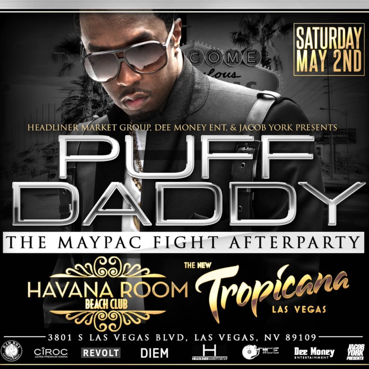 Las Vegas: Fight Weekend w/ Puff Daddy, LIV on Sunday & more!
