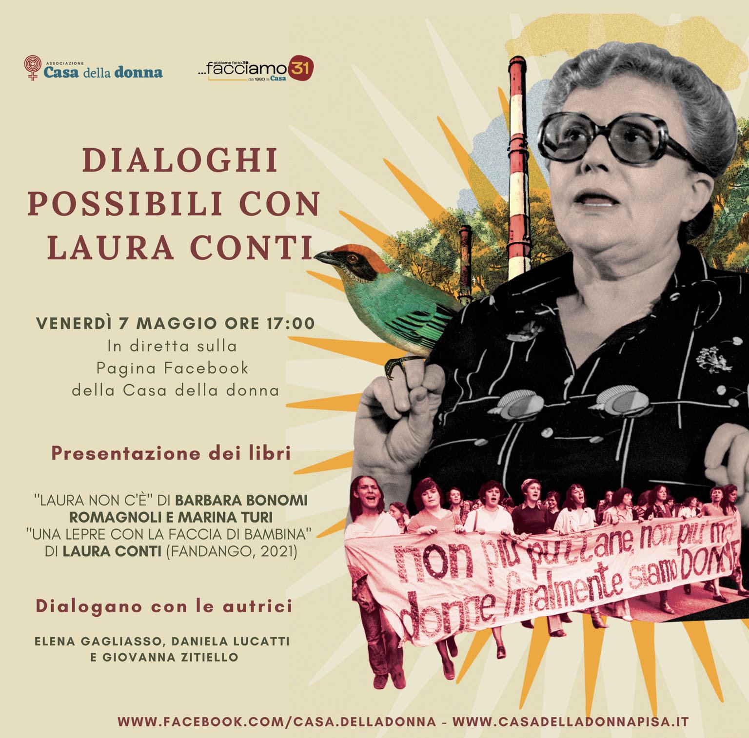 Evento on line della Casa della donna di Pisa: Dialoghi possibili con Laura Conti