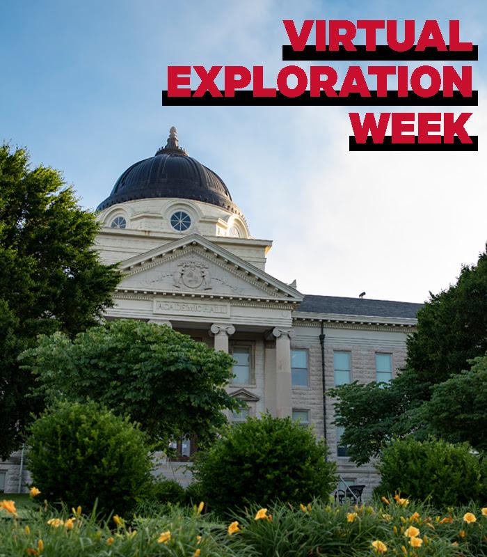 Virtual Exploration Week. Image of Southeast Missouri State's Academic Hall.