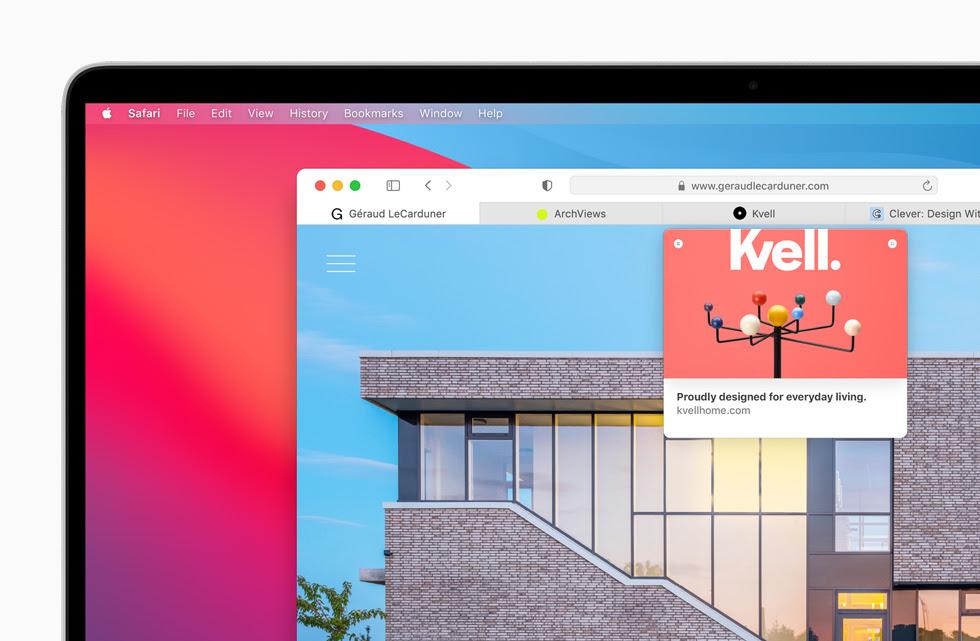 顯示在 MacBook Pro 上的 Safari 瀏覽器。